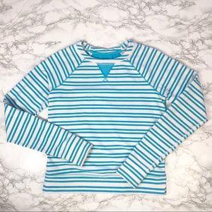 Lululemon Voyage Pullover Blue Striped Top 4